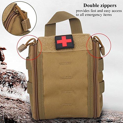 Borsa medica di sopravvivenza di emergenza per infermieri portatili per attività all'aperto per sport all'aria aperta ( Colore : Nero ) Cachi