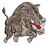Jabalí grande Back Patch Wolfszeit–Parche para espalda XXL aprox. 23,5X 21,5Cm