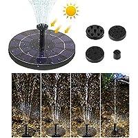 Phomnd Solar Powered Floating Bird Bath Water Fountain Outdoor Pond Pool Garden Patio