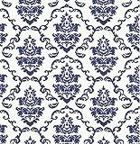 i.stHOME Klebefolie - Ornament Aida blue - Möbellfolie Vintage - Dekorfolie 45x200 cm