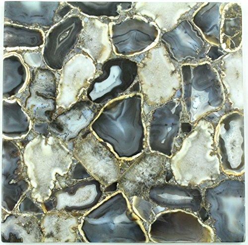 Rajasthan gems handgefertigt Semi Precious Stone Couchtisch Top, Beistelltisch, Natur Achat Stein