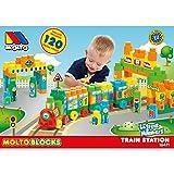 Unbekannt Bausteine verschiedene Größen und Farben mit Zahlen Buchstaben 120 Teile • Bauklötze Spielzeug Steckbausteine Baby Spielbausteine Kinder Zug
