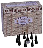 Goloka Chandan Dhoop Cones Pack of 12 (1...