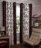 Elegance brown kolaveri design polyester...