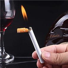 Daozea Kreatives Feuerzeug in Zigarettenform, nachfüllbar, Butangas-Feuerzeug – Jet Flame Lighter – Herrengeschenk, Winddicht, kein Gas