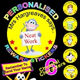 216 Personalised Reward Stickers / Labels For Teachers or Parents Add your Name To The Stickers To Make Them Extra Special A BIG Encouragement For Your Little Ones Send A Message To Us With Your Printing Details See Photo No 2.. Plus 75 FREE Gold Metallic Stars (13mm) Stickers