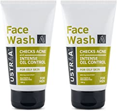 Ustraa Face Wash for Oily Skin, Checks Acne and Oil Control 100g (Pack of 2)