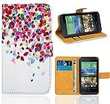 HTC Desire 610 Housse Coque, FoneExpert Etui Housse Coque en Cuir Portefeuille Wallet Case Cover pour HTC Desire 610
