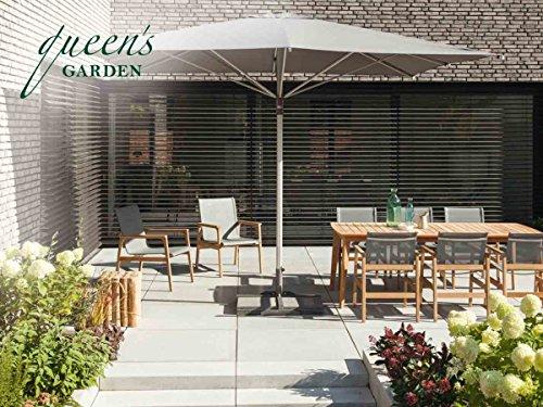 QUEEN'S GARDEN Haute Qualité Siège Bois de Teck Groupe Kent de 6 Personnes/terrasse Table/Table de Jardin/extérieur