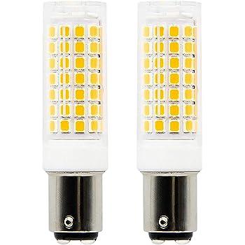1819 BA15D bombillas LED de intensidad regulable 6 W equivalente a 75 W bombilla halógena, 95 V-240V blanco cálido 3000 K