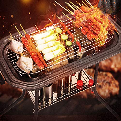 WSJS Un Gril de Carbone-électrique Grand Vertical Balcon Grill...
