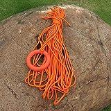 Tragbares Wasser-Rettungsseil 30 Meter ein Bündel Wasserrettungsseil Schwimmleine mit einem Schwimmring (orange)