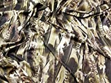 Dramatische Feder Print Royal Micro Satin Kleid Stoff