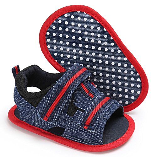Cutelove moda bambini del neonato di estate sandali scarpe per bambini tela sandali sportivi per il tempo libero comodo morbida antiscivolo svanire facile Rosso