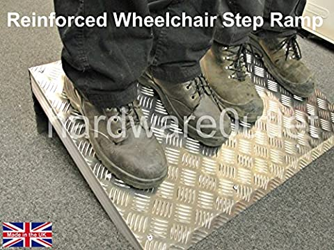 Reinforced Disabled Wheelchair Ramp - Door Ramp Anti Slip 8 Heights available (8