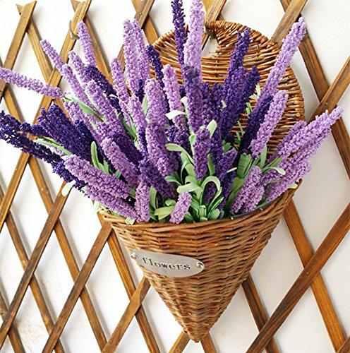 Lx.AZ.Kx Creative Home Accessori emulazione di vimini Flower Garden il vaso di rattan per montaggio a parete della navicella Rattan il Potting Vasesb)