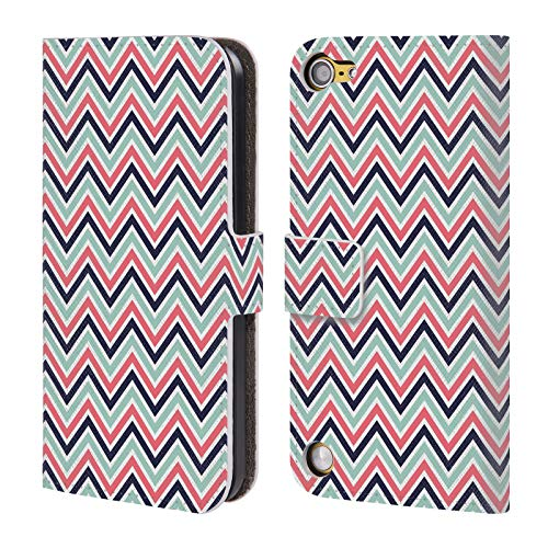 Head Case Designs Offizielle KookiePixel Chevron Muster 2 Leder Brieftaschen Huelle kompatibel mit Touch 5th Gen/Touch 6th Gen