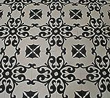1 m² (25 Stück) Zementfliesen Karina 430_4 schwarz weiß mediterrane marokkanische Fliesen