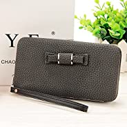 Women Mobile Phone Wallet, Folded Clutch Bags & Multi-card Coin Purse. (Bl