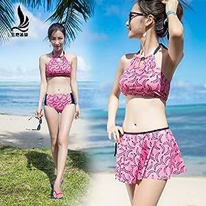 YUPE Hot Spring Badeanzug Triangle Bikini Fashion Rock Badebekleidung Frauen Strand, M