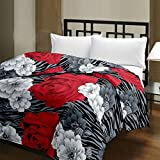 Renown Products Micro Cotton Floral Design Printed Reversible Single Bed AC Blanket (Black Zebra) - Pack Of 1