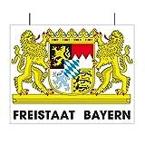 Everflag Motiv aus Karton Freistaat Bayern - Schild