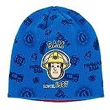 Feuerwehrmann Sam - Auswahl Kinder Strick Mütze Gr. 52 - 54, Größe:52;Farbe:Blau