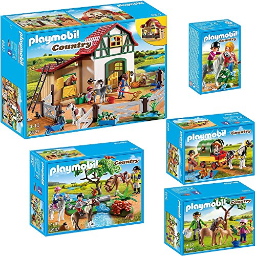 PLAYMOBIL Country Set en 5 parties 6927 6947 6948 6949...