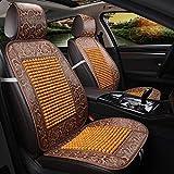 QXXZ Autositzbezüge, Kühlung Bambus Auto Sitz Bezug 1Pcs, D