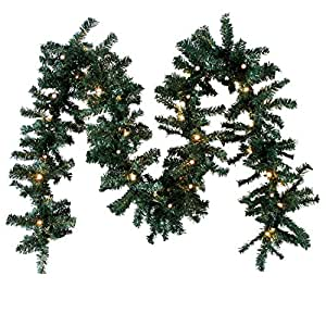Guirlande en branche de sapin artificiel led power guirlande lumineuse 40 led blanc chaud - Guirlande en sapin artificiel ...