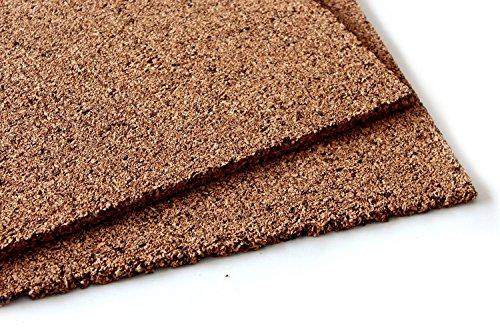 Korkdämmplatte zur Dämmung und Isolierung von Wänden / Dächern / Decken / Türen / Hütten / Fußböden / Trockenestrich (100x50x1 cm) (20)