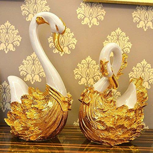 STOWNN Hochzeit Geschenke High-End-Luxus Swan Ornamente Wohn Zimmer Dekorationen Kunsthandwerk Hochzeit Geschenke Im Europäischen Stil Home Improvement Soft Outfit Zeichnen Den Vollmond - (Hummer Outfit)