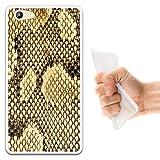 WoowCase Doogee Y300 Hülle, Handyhülle Silikon für [ Doogee Y300 ] Tier Haut der exotischen Schlange Handytasche Handy Cover Case Schutzhülle Flexible TPU - Transparent