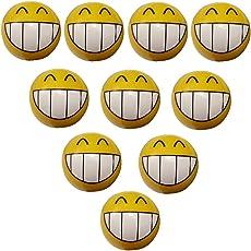 Aerzetix: 10 Ventilkappen Auto Fahrrad Motorrad mit Emoticone Lächelnd Runde C19919