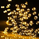 LED Cadena de Luz Solar, Rixow 200 Luces Solares de 22 Metros,las Luces de Navidad para las Decoraciones al Aire Libre, y Jardín.