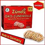 HS Öko Zündwolle Bio Anzünder Kaminanzünder Grillanzünder 5x32St.