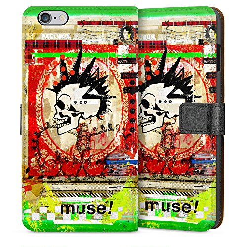 "artboxONE Handyhülle Apple iPhone 6, weiß Sideflip-Case Handyhülle ""muse Case"" - Abstrakt Collage - Smartphone Sideflip Case mit Kunstdruck von Sandrine Pagnoux Sideflip Case weiß"