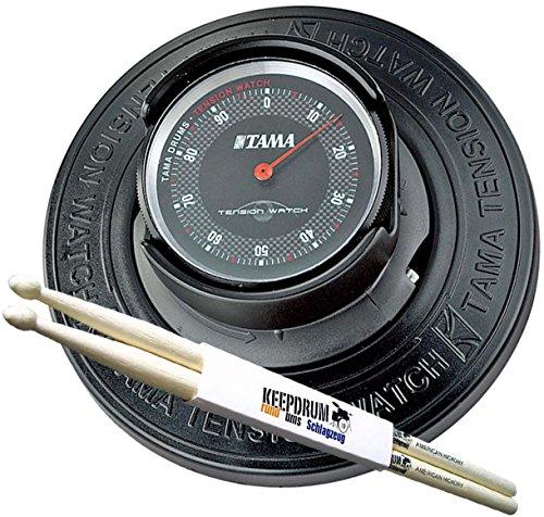 Tama TW200 Tension Watch Schlagzeug Stimmgerät + KEEPDRUM Drumsticks 1 Paar