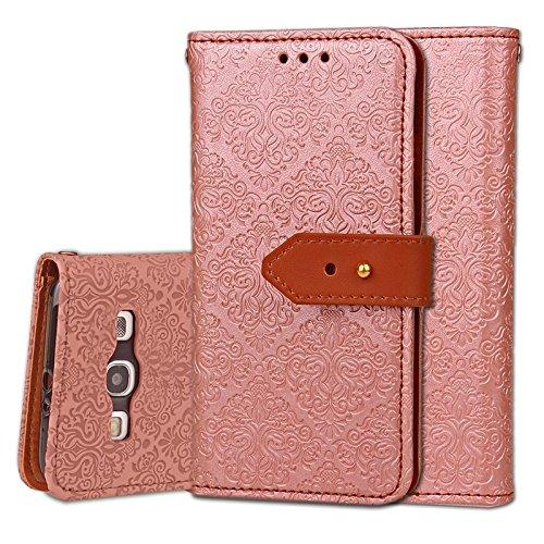 YHUISEN Galaxy S3 Case, Magnetverschluss European Style Wandgemälde Prägeartig PU Leder Flip Wallet Case Mit Stand Und Card Slot Für Samsung Galaxy S3 I9300 ( Color : Rose Gold ) Rose Gold