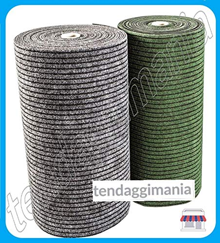 Tendaggimania zerbino tappeto da ingresso passatoia asciugapassi, antisporco, assorbente, varie altezze e colori (grigio, rotolo da 2 mt)