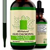 Liquid Chlorophyll Drops, 100% All-Natural Concentrate, Energy Booster, Strengthen Immune System, Internal Deodorant - 60ml