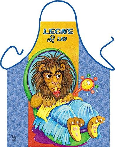 Horoskop Leone e Leo - Fun Motiv Schürze - mit Gratis-Urkunde