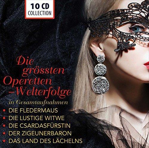 The Greatest Operettas (Complete Recordings) : Die Fledermaus, Die lustige Witwe, Die Csárdásfürstin, Der Zigeunerbaron, Das Land des Lächelns