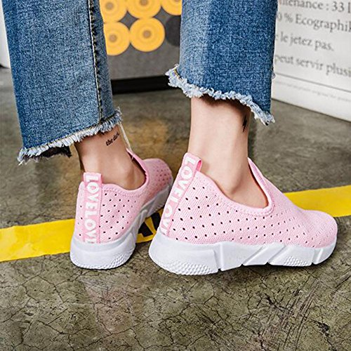 Frauen Breathable Mesh Schuhe Frühling und Sommer Sneaker Pink
