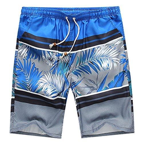 HITOP Herren Schnelles Trocknen Elastisch mehrfarbig Badeshorts Badehose Bermudashort Freizeit Strand Shorts 3