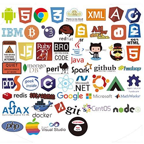 Laptop-Aufkleber für Entwickler, Programmierer von Front-End Dev, Backend Sprachen, Aufkleber für Software-Entwickler, Ingenieure, Hacker, Programmierer, Geeks und Coders (50 Stück) B