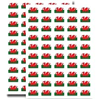 Supertogether Big Value 100-Pack Wales Welsh Flag Stickers - 31mm x 20mm Dimensions - Self Adhesive Durable English Motif Decals Labels for Car Bike Motorbike Numberplate Helmet Windows and Walls