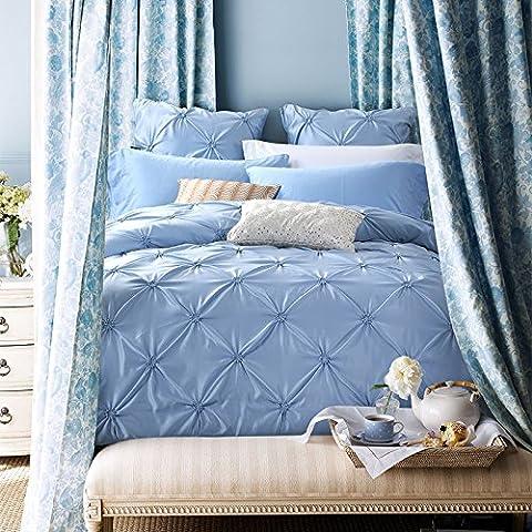 Set di biancheria da letto,100% cotone 550-Pezzo Copripiumino imposta,set di fogli solido europea Four-Piece re