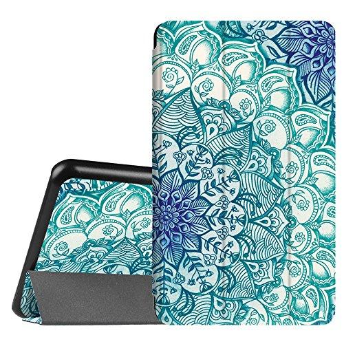 Fintie Hülle für Samsung Galaxy Tab A 7.0 Zoll SM-T280 / SM-T285 Tablet (2016 Version) - Ultra Schlank Superleicht Ständer Slim Shell Case Cover Schutzhülle Etui Tasche, smaragdblau (Samsung Für Tablet-cover 7)