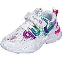 HSNA Baskets Mode Fille Légères Chaussures Scratch Sneakers Paillettes pour Fille